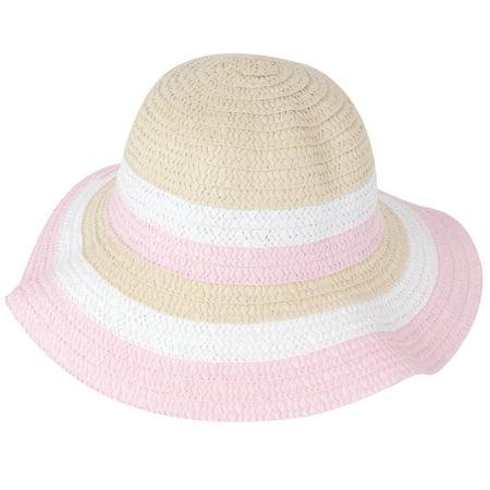 Little Girls Hat (Little Girls Wide Brim Beach Floppy Sun Hat )
