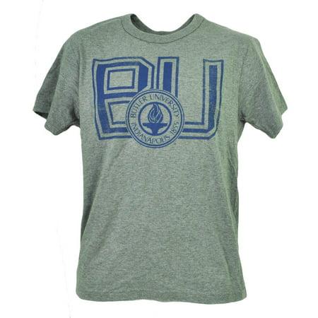 Navy Blue Bulldog - NCAA Butler Bulldogs Navy Blue Tshirt Tee Mens Short Sleeve Crew Neck XLarge