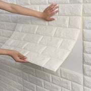 NK 1-500 Pieces PE Foam Self Adhesive 3D Wall Stickers Wallpaper Embossed Brick Ceramic Tile Stone Wall Panels Decals