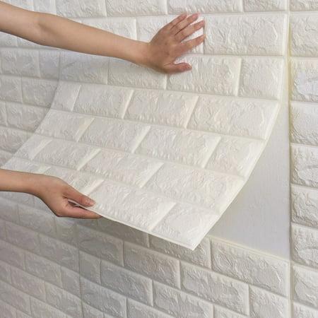 Wallpapers Halloween 3d Gratis (NK 1-500 Pieces PE Foam Self Adhesive 3D Wall Stickers Wallpaper Embossed Brick Ceramic Tile Stone Wall Panels)