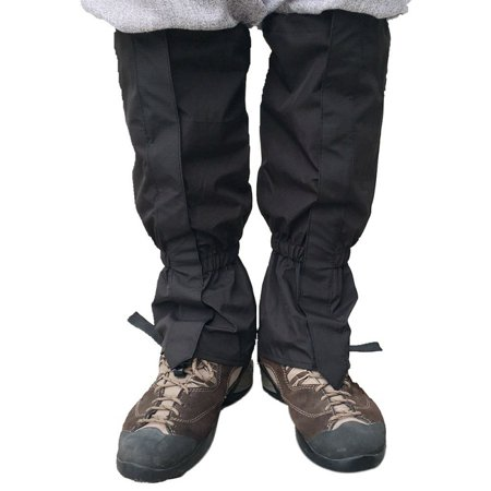 - 1 Pair Unisex Waterproof Leg Cover Ski Gaiter Hiking Camping Snow Boots Hunting Travel Climbing Windproof Leggings
