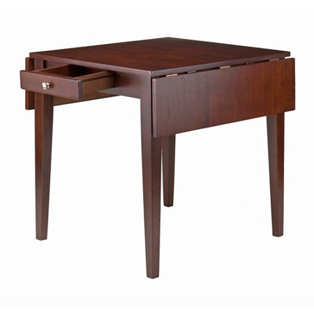 Winsome Wood Hamilton Double Drop Leaf Dining Table, Walnut ()