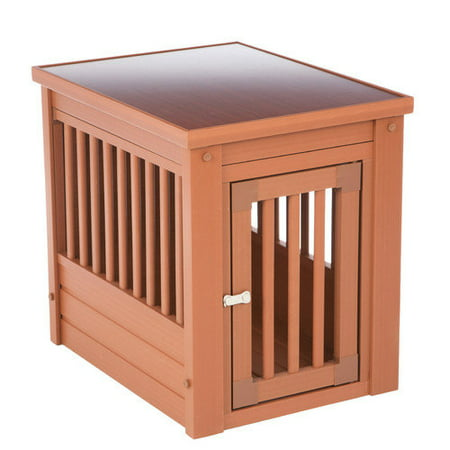 Large Dog Crate End Table Espresso