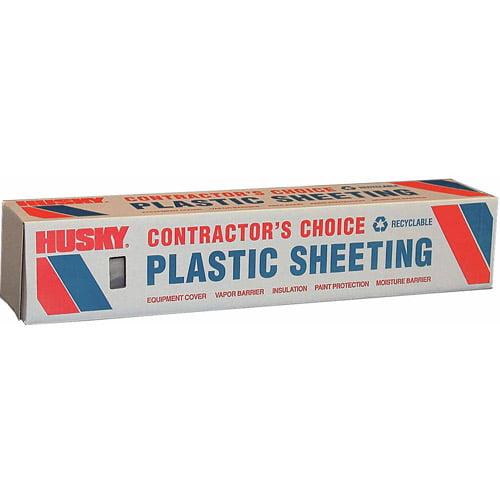 Husky 6 mL Polyethylene Opaque Plastic Sheeting, 12' x 100'