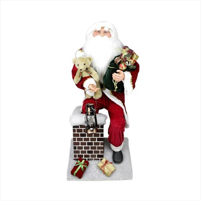 NorthLight 4.5 ft. Large Decorative Santa Claus Climbing ...