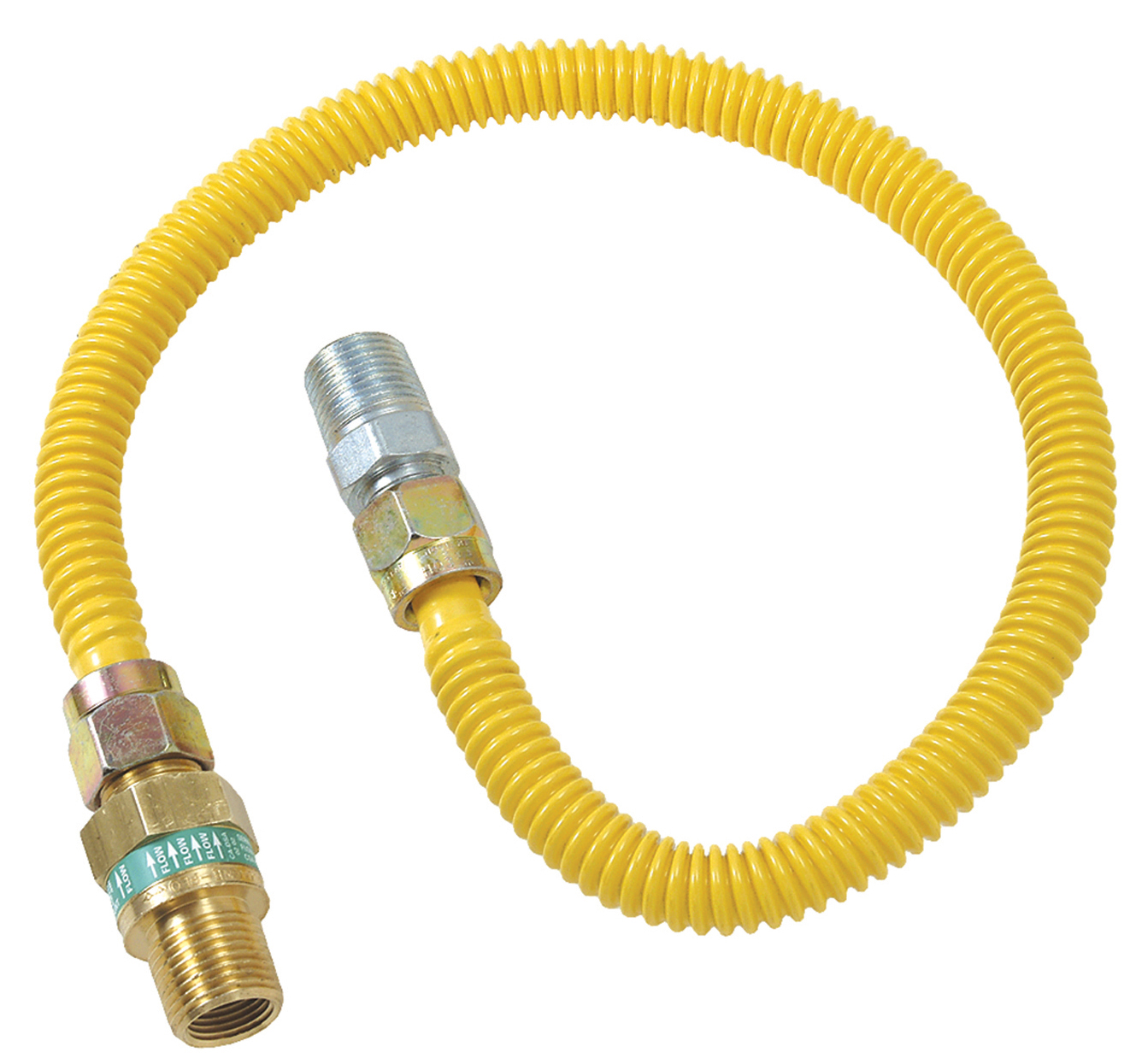 BrassCraft CSSL45E-18 P 3//8-Inch Outer Diameter Safety Plus Gas Appliance Connector with Excess Flow Valve