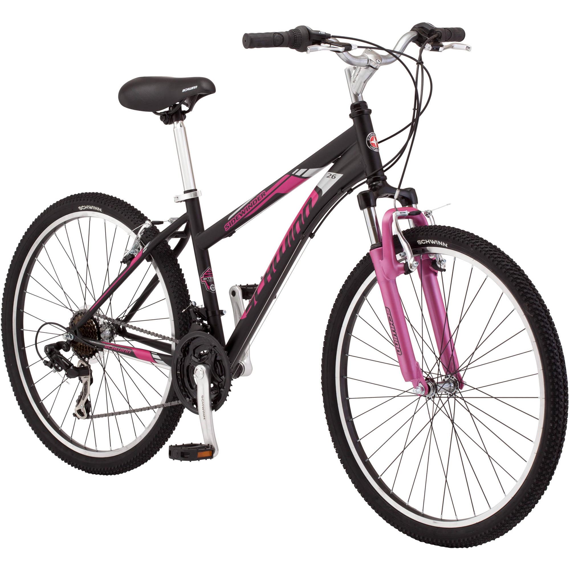 "Roadmaster Granite Peak 26/"" Women/'s Mountain Bike Black//Pink 26/"""