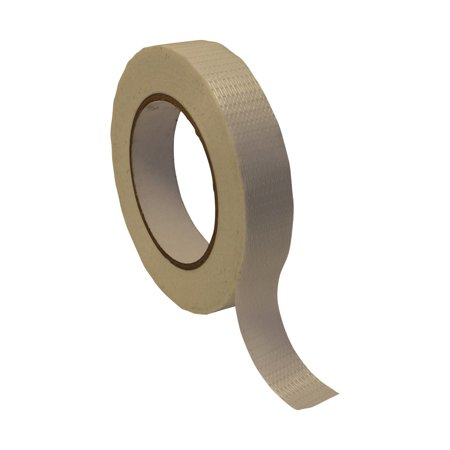 JVCC 762-BD Bi-Directional Filament Strapping Tape: 1 in. x 60 yds. / White (Opaque) Opaque White Filament Reinforced