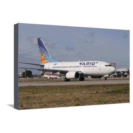 Varig Airlines - Boeing 737 from Varig Brazilian Airline Taken at Natal Airport, Brazil Stretched Canvas Print Wall Art By Stocktrek Images