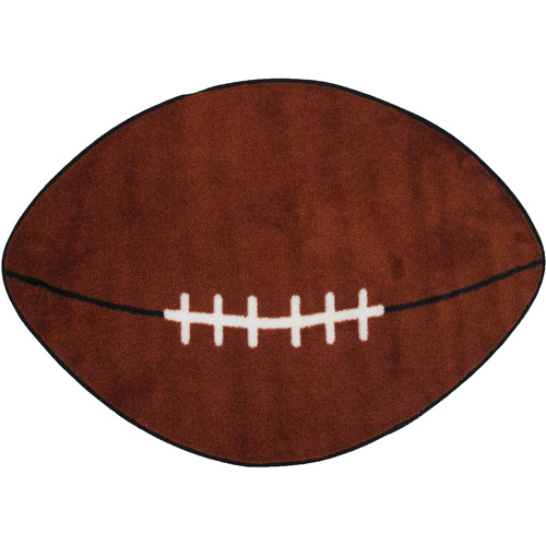 "Fun Rugs Children's Fun Time Collection, Football Field, 28"" x 45"