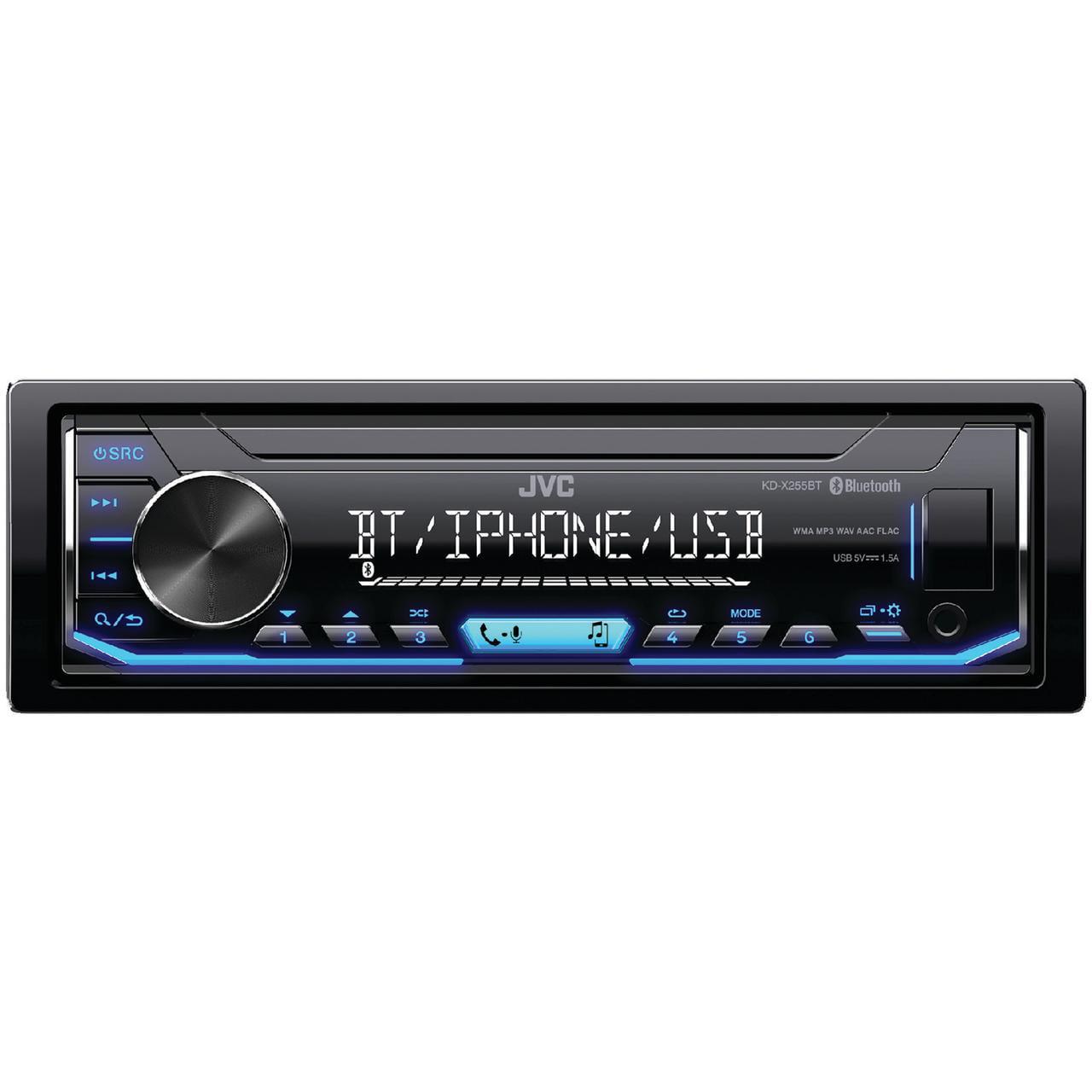 JVC Mobile KD-X255BT Single-DIN In-Dash AM FM Digital Media Player with Bluetooth by JVC