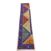 Mogul Patchwork Table Runner Purple Vintage Embroidered Wall Hanging Tapestry