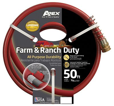 Teknor-Apex 989-50 Garden Hose, Farm & Ranch Duty, 450 PSI, Dark Red, 3 4-In. x 50-Ft. by TEKNOR-APEX COMPANY