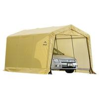 Shelterlogic AutoShelter Instant garage 10'x15'x8' Sandstone, Peak