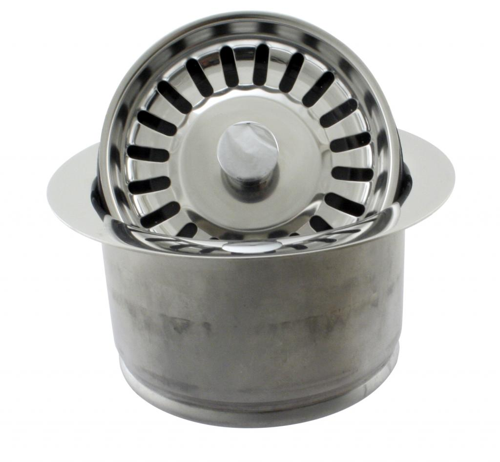 Westbrass D2082S-26 InSinkErator Style Extra-Deep Disposal Flange and Strainer - Polished Chrome