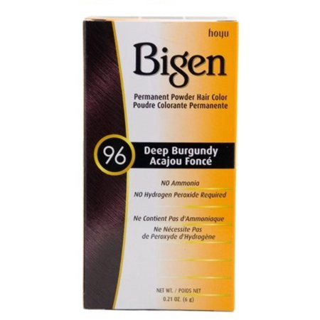 6 Pack - Bigen Permanent Powder Hair Color 96 Deep Burgundy 1 ea 0.21