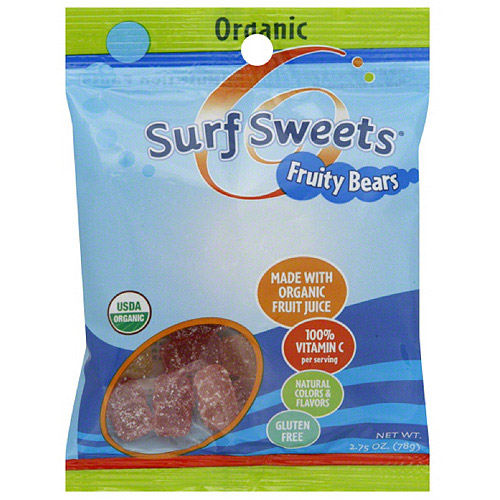 Surf Sweets Fruity Bears, 2.75 oz, (Pack of 12)