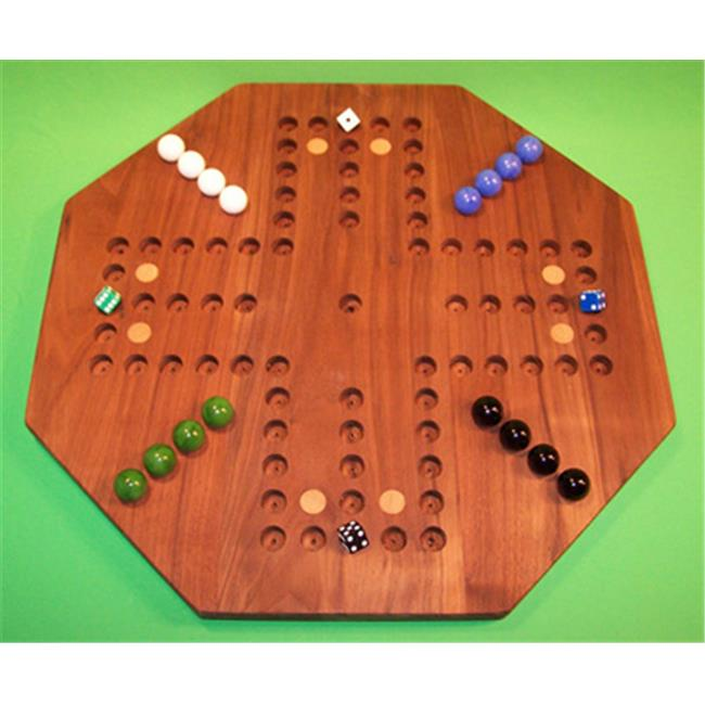Charlies Woodshop W-1941alt.-1 Wooden Marble Game Board Black Walnut by Charlies Woodshop