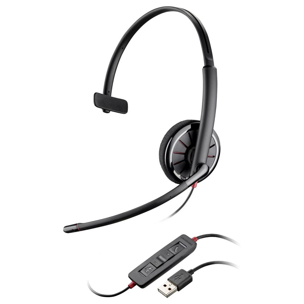 Plantronics Blackwire C310-M Over-the-Head Monaural USB Headset (Microsoft)