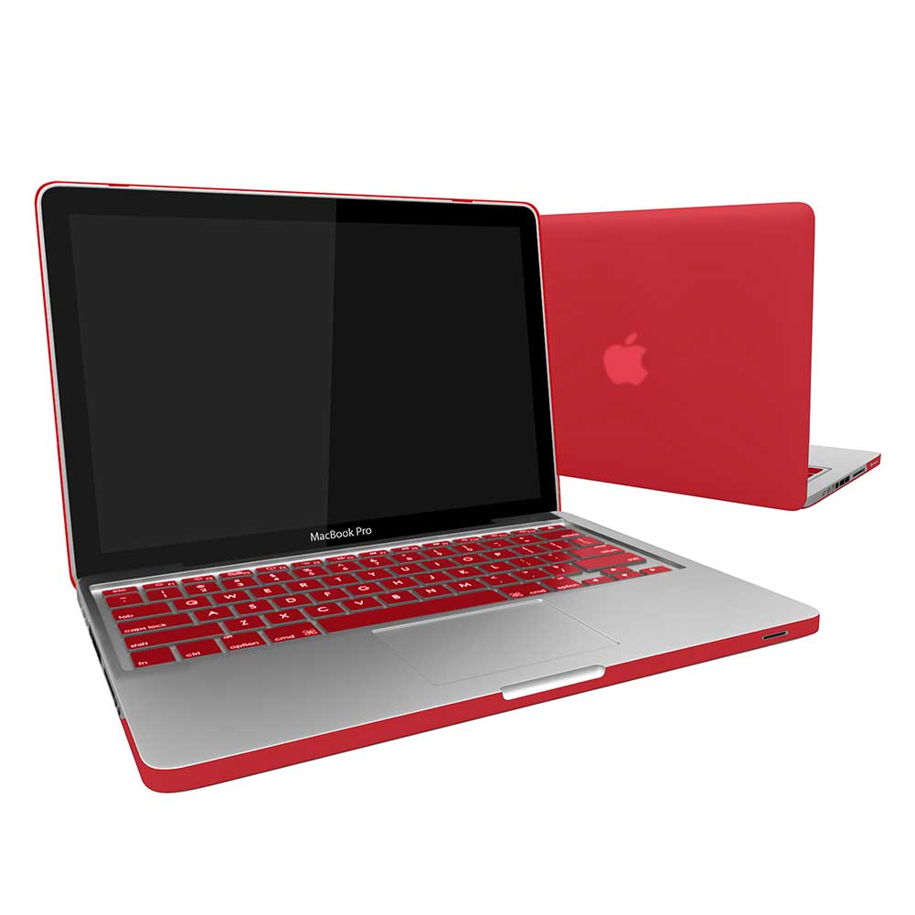 """Keyboard Cover For Macbook PRO 13/"""" A1278 Rubberized Hardcase Shell With CD-ROM"""