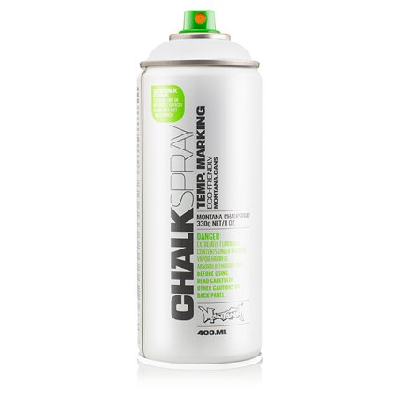 Montana Can WHITE Chalk Spray Paint 400ml Temporary Marking Eco-Friendly Aerosol