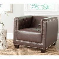 Safavieh Bentley Rustic Glam Club Chair w/ Silver Nail Heads