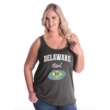 Delaware Girl Women Curvy Plus Size Tank Tops