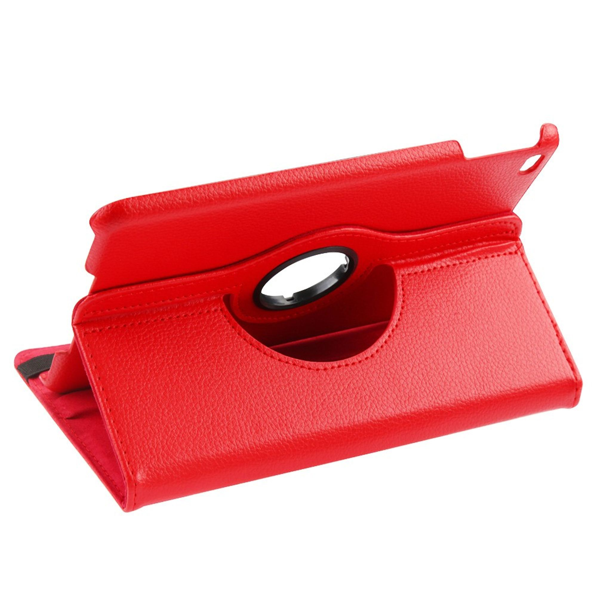 Insten MyJacket Stand Folio Flip Leather Case Cover For Apple iPad Mini 4, Red