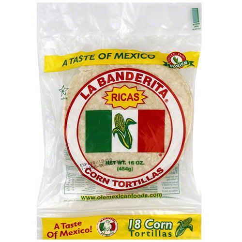 La Banderita Corn Tortillas, 18ct (Pack of 12)