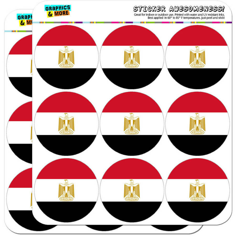 """Egypt National Country Flag 18 2"""" Planner Calendar Scrapbooking Crafting Stickers"""