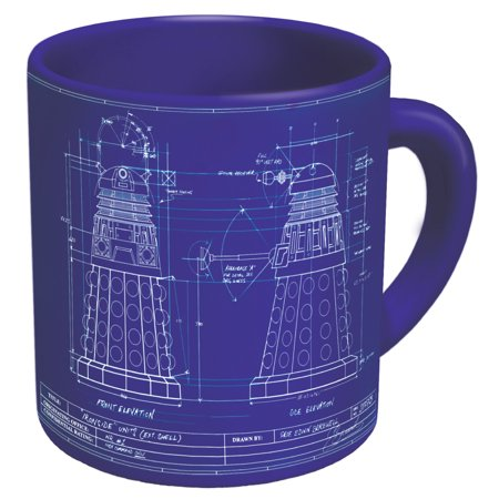 Doctor Who - Genesis of the Daleks Coffee Mug - Study the Blueprints of the Dalek While You Drink Your Beverage