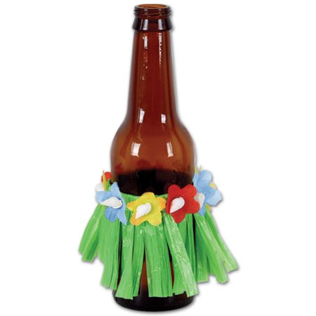 Club Pack of 48 Assorted Drinking Cup Hula Skirt Decorations 3.5