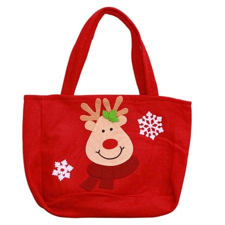KABOER 2 Pcs 33*23CM Christmas Reusable Non-Woven Tote Gift or Shopping Bag Asso ()