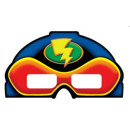 Superhero Party 3D Mask Glasses - Mask Printables