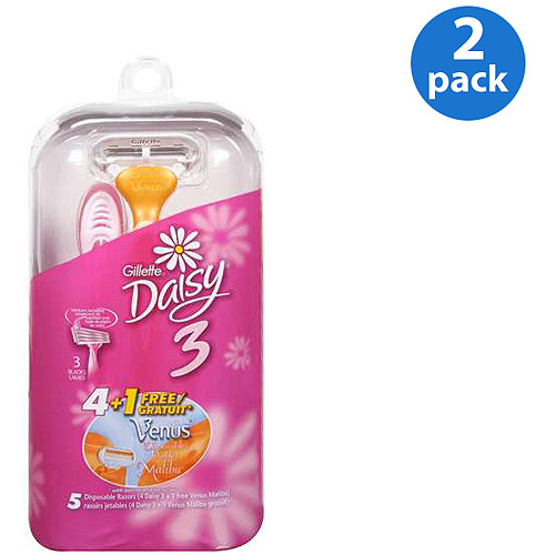 Gillette Daisy 3 Razors 5 ct (Pack of Two)