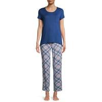 2-Piece Hanes Women's Short Sleeve T-Shirt and Capri Pants Set