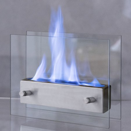 Costway Portable Tabletop Fireplace Ventless Bio Ethanol Garden Fire Stainless -