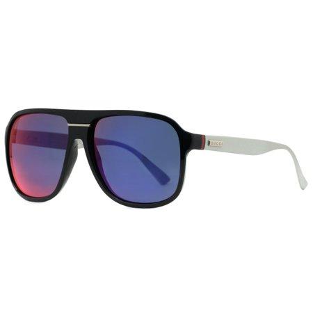 3addaa5b156 Gucci - Gucci GG 1076 S JWO CP Blue Palladium Men s Aviator Sunglasses -  Walmart.com
