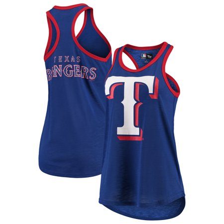 Texas Rangers G-III 4Her by Carl Banks Women's Team Logo Tater Racerback Tank Top - Royal