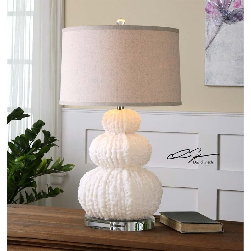 Uttermost Fontanne Shell Ivory Table Lamp - image 2 of 2