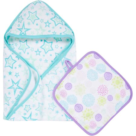 Muslin Washcloth Set (MiracleWare Muslin Cotton Hooded Towel and Washcloth)