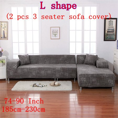 Perfect Fit 3 Seater And L Shape 2pcs Couch Cover Sofa Slipcover Polyester