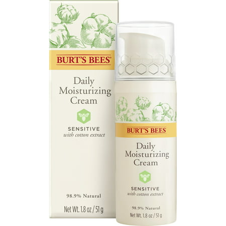 Burt's Bees Daily Face Moisturizer Cream For Sensitive Skin, 1.8