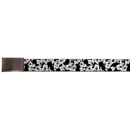 Walt Disney Movies Tv Shows Mickey Mouse Collage Web Belt Chrome