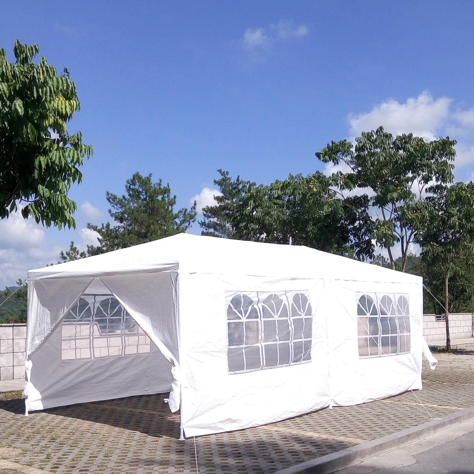 Ktaxon Outdoor 10'x20'Canopy Party Wedding Tent Heavy Duty Gazebo Pavilion Cater Events w/6 or 4 Side Walls