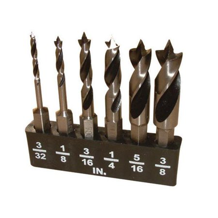 Close Quarter Bit - 5 Piece Stubby Brad Point Drill Bit Set Close Quarter