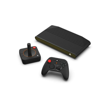 Atari VCS 800 Carbon Gold All In Bundle with Classic Joystick and Modern Controller (Walmart Exclusive)