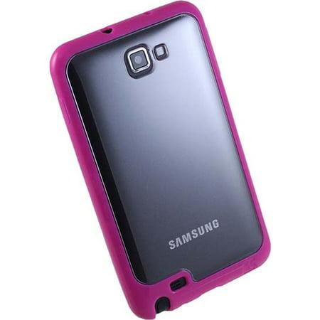 PINK CLEAR AQUAFLEX TPU SKIN CASE COVER FOR SAMSUNG GALAXY NOTE 1 PHONE ( i9220 i717 N7000 T879) 1st