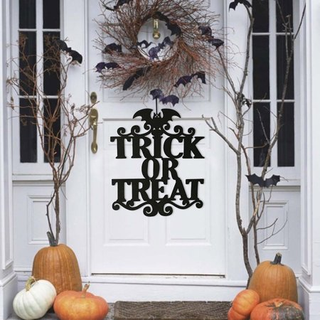 Iuhan The Witch Is In Halloween Hanging Sign Door Hanging Halloween Non-woven