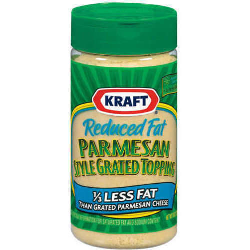Kraft Grated Cheese: Cheese Reduced Fat Parmesan Style Topping, 8 Oz